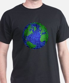 Peace On Earth Mandarin T-Shirt
