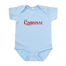 Converse, Vintage Red Infant Bodysuit