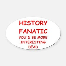 HISTORY Oval Car Magnet