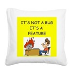 software engineer gifts Square Canvas Pillow