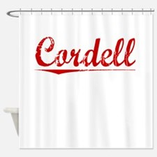 Cordell, Vintage Red Shower Curtain