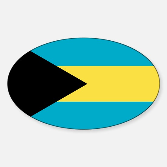 Flag of the Bahamas Sticker (Oval)