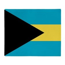 Flag of the Bahamas Throw Blanket