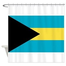 Flag of the Bahamas Shower Curtain