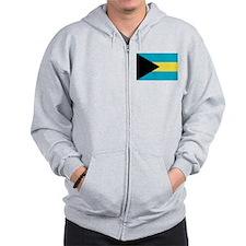 Flag of the Bahamas Zip Hoodie