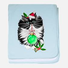 A Tuxedo Merry Christmas baby blanket