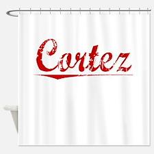 Cortez, Vintage Red Shower Curtain