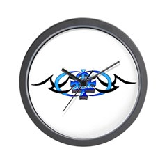 Alpha Omega Tribal Wall Clock