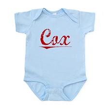 Cox, Vintage Red Infant Bodysuit