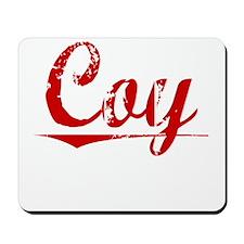 Coy, Vintage Red Mousepad