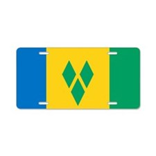 St Vincent Grenadines Flag Aluminum License Plate