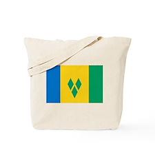 St Vincent Grenadines Flag Tote Bag