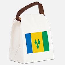 Saint Vincent Grenadines Flag Canvas Lunch Bag