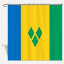 Saint Vincent Grenadines Flag Shower Curtain
