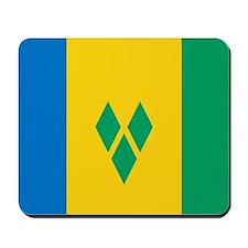 Saint Vincent Grenadines Flag Mousepad