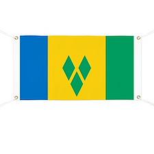 St Vincent Grenadines Flag Banner