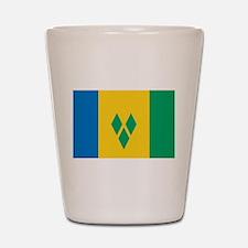 Saint Vincent Grenadines Flag Shot Glass