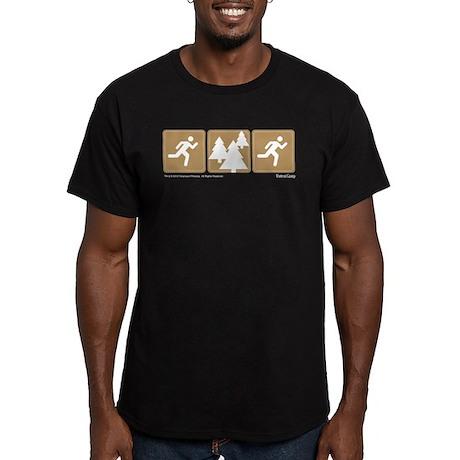 Run Forrest Run Men's Fitted T-Shirt (dark)