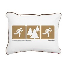 Run Forrest Run Rectangular Canvas Pillow