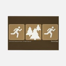 Run Forrest Run Rectangle Magnet