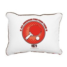 Ping Pong Rectangular Canvas Pillow