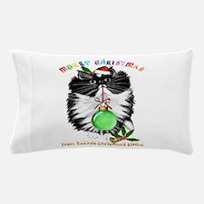 A Tuxedo Kitten Christmas Pillow Case