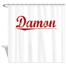 Damon, Vintage Red Shower Curtain