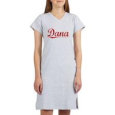 Dana, Vintage Red Women's Nightshirt
