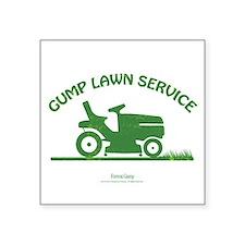 """Gump Lawn Service Square Sticker 3"""" x 3"""""""