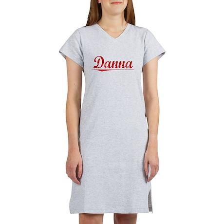 Danna, Vintage Red Women's Nightshirt