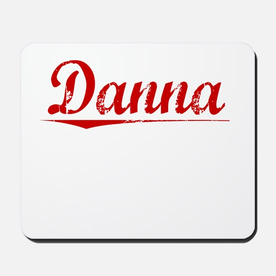 Danna, Vintage Red Mousepad