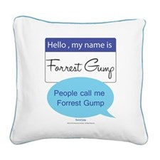Forrest Gump Square Canvas Pillow