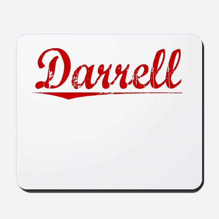 Darrell, Vintage Red Mousepad