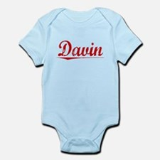 Davin, Vintage Red Infant Bodysuit