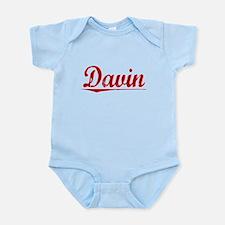 Davin, Vintage Red Onesie