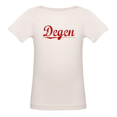 Degen, Vintage Red Organic Baby T-Shirt