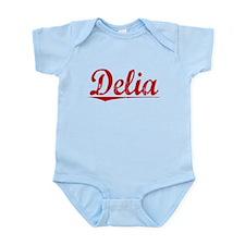 Delia, Vintage Red Infant Bodysuit