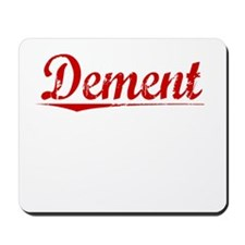 Dement, Vintage Red Mousepad