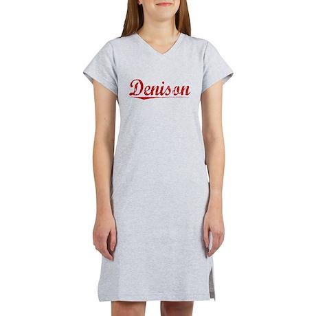Denison, Vintage Red Women's Nightshirt