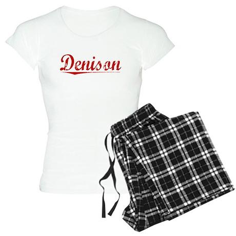 Denison, Vintage Red Women's Light Pajamas