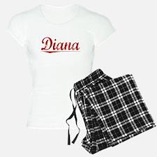 Diana, Vintage Red Pajamas