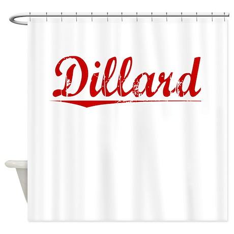 Dillard vintage red shower curtain by thecafemarket for Dillards bathroom accessories