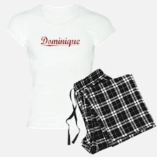 Dominique, Vintage Red Pajamas