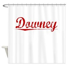 Downey, Vintage Red Shower Curtain