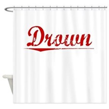 Drown, Vintage Red Shower Curtain