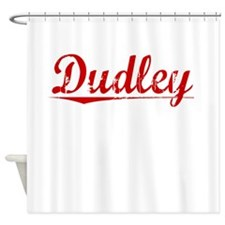 Dudley, Vintage Red Shower Curtain