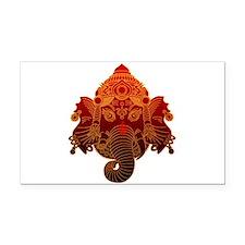 Ganesha Rectangle Car Magnet