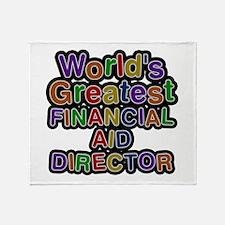 World's Greatest FINANCIAL AID DIRECTOR Throw Blan