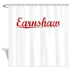 Earnshaw, Vintage Red Shower Curtain
