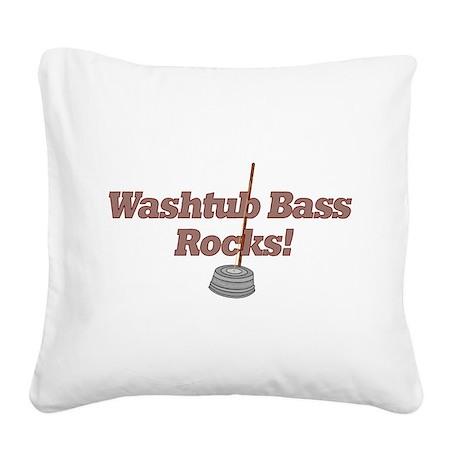 Washtub Bass Rocks! Square Canvas Pillow